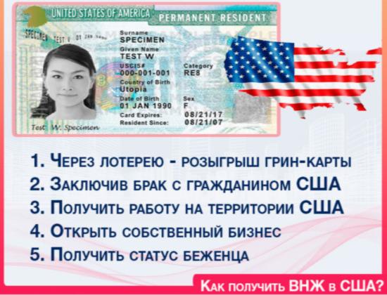 Вид на жительство в америке для россиян